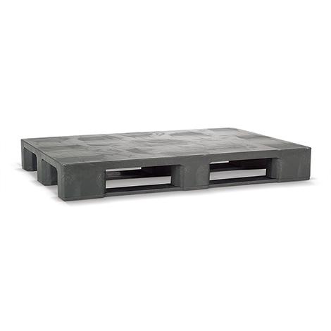 Kunststoff-Industrie-Palette BASIC. Stapelbare Ausf. LxBxH mm:1200 x 800 x 155