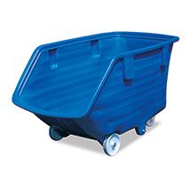 Kunststoff-Kippbehälter mit Rollen und ohne Kippmechanismus