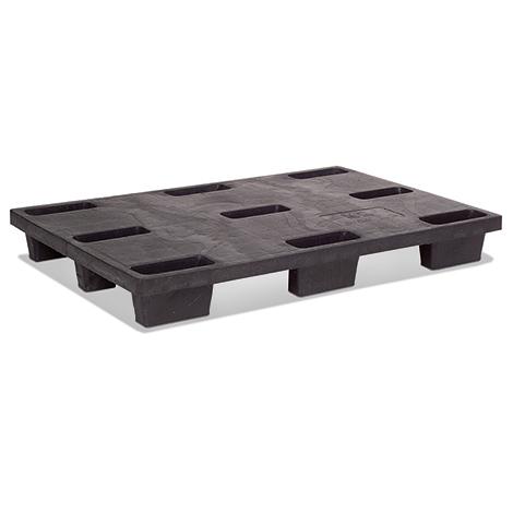 Kunststoff-Palette BASIC. Nestbare Ausführung. LxBxH mm: 1200x800x145