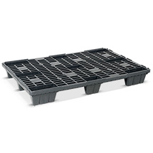 Kunststoff-Palette BASIC. Stapelbare Ausführung. LxBxH mm: 1200x800x145