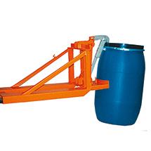 Kunststofffass-Greifer, Tragkraft 1600kg, lackiert / verzinkt