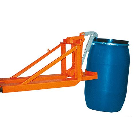 Kunststofffass-Greifer, Tragkraft 800kg, lackiert / verzinkt