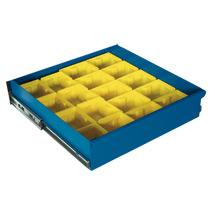 Kunststoffkästen-Einteilungsset für große Schublade (BxT 950 x 500 mm)