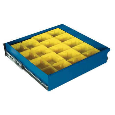 Kunststoffkästen-Einteilungsset für kleine Schublade (BxT 500 x 500 mm)