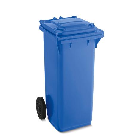 Kunststoffmülltonne, 120 Liter, blau