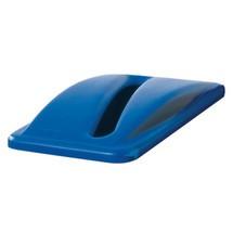 Kunststoflåg til affaldssorteringsbeholderen Rubbermaid® Slim Jim®, 60 og 87 liter, med hul til indkastning af papir