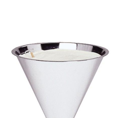 Kvarts-sølvsand til standeraskebæger