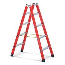 Ladder van met glasvezel versterkt kunststof / aluminium ZARGES, aan 2 zijden te beklimmen