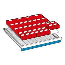 Lade-indelingen voor ladekasten. Breedte 1023 mm
