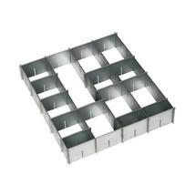 Lade-indelingsset, verzinkt, voor kleine lade (BxD 500 x 500 mm)