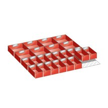 Ladebakjes voor Lista klasten: 18 bakjes voor kastbreedte 564 mm