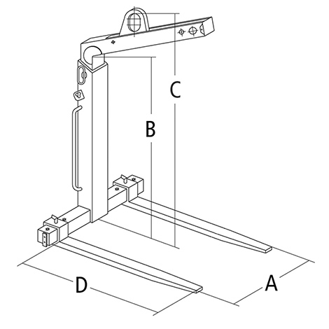 Ladegabeln / Krangabeln, automatischer Gewichtsausgleich , Tragkraft bis 5000 kg