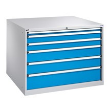 Ladenkast met volledig uittrekbare laden, laden 1x50 + 2x100 + 2x150 + 1x200 mm