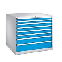 Ladenkast met volledig uittrekbare laden, laden 2x75 + 4x100 + 1x150 + 1x200 mm