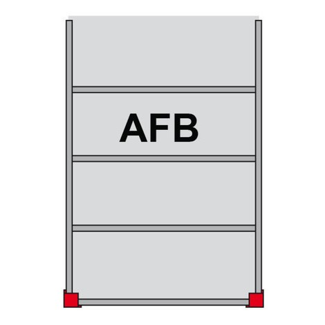 Lagerbühnen-Modulsystem AF, 350 kg/m², LxB 3.000 x 5.000 mm