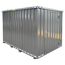 Lagercontainer, komplett verzinkt