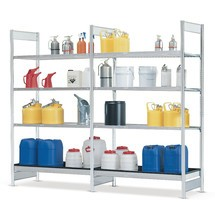 Lagerebene für Gefahrstoffregal asecos® für gewässergefährdende, aggressive Flüssigkeiten