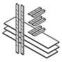 Lagerregal, Böden für Materialcontainer