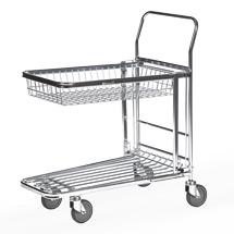 Lagerwagen / Transportwagen mit klappbarem Korb. Tragkraft 300 kg