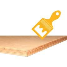 Lakwerk voor multiplexplaat voor zware werkbank