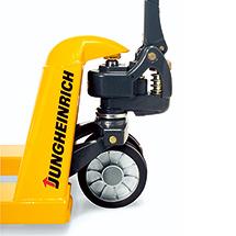 Langgabel-Hubwagen Jungheinrich AM 22 - Tragkraft von 500 kg bis 2200 kg, Gabellänge von 1360 mm bis 2400 mm