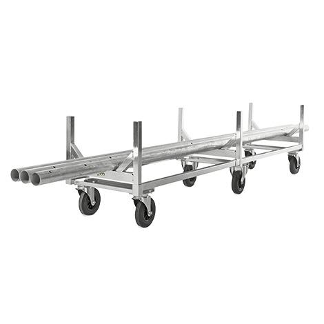 Langmaterialwagen, komplett verzinkt, 800 kg, 2800 x 608 x 700 mm