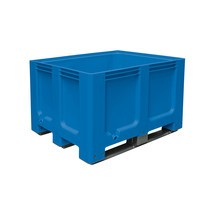 Large polyethylene container, 610 litres, with cross members