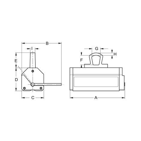 Lasthebemagnet PFEIFER für Flach- und Rundmaterial