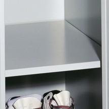 Legbord voor garderobekast, ventilatiegaten, 300 en 400mm