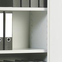 Legborden verzinkt voor draaideurkast BASIC. Hoogte 1,95 m