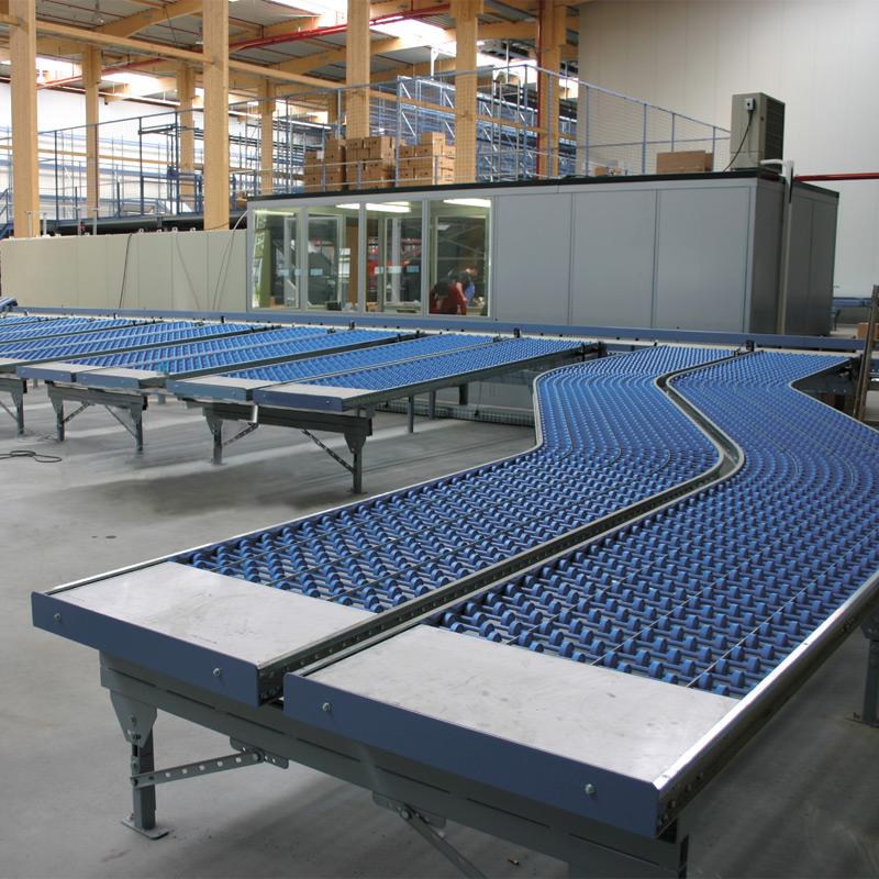 Leicht-Röllchenbahnen, Tragrollen aus Kunststoff, Gerade, Länge 1m