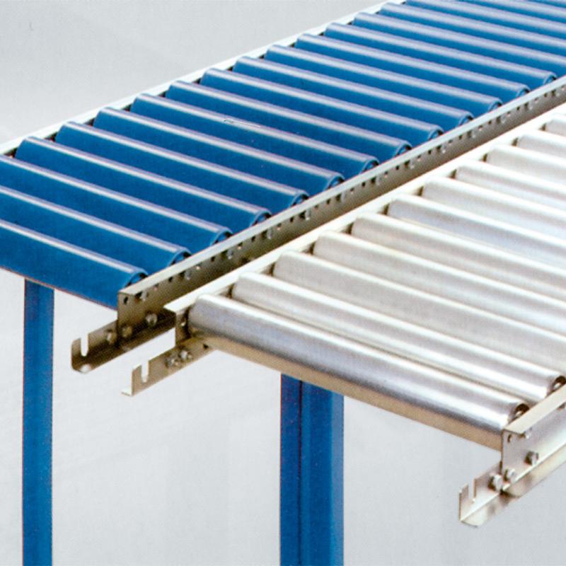 Leicht-Rollenbahnen, Tragrollen aus Kunststoffrohr, Gerade, Länge 1,5m