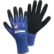 Leipold+Döhle Handschuhe Nitril Aqua