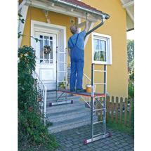 Leitergerüst BASIC ohne Rollen. Arbeitshöhe 3,75 m