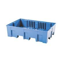 Lekbak asecos® van PE, voor vaten van 60/200 liter