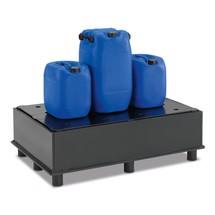 Lekbak van polyethyleen voor vaten. Met perfoplaat