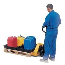 Lekbak voor kleine vaten asecos®, uit PE