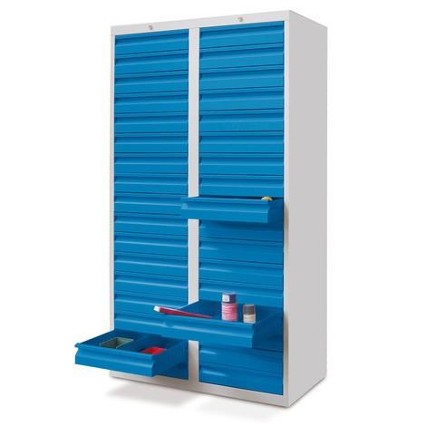 Lekka szafa z szufladami PAVOY, prowadnice rolkowe, szuflady 30 x 100 + 2 x 200 mm, szerokość 1000 mm