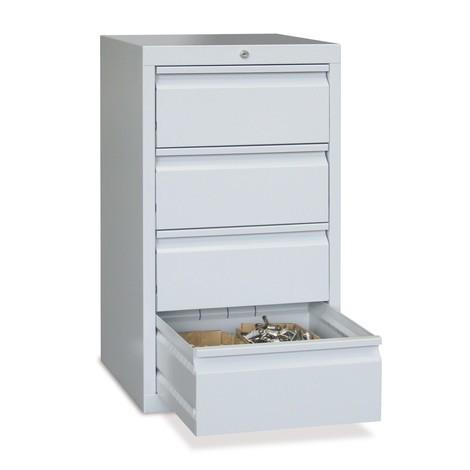 Lekka szafa z szufladami PAVOY, prowadnice rolkowe, szuflady 4 x 200 mm, szerokość 500 mm