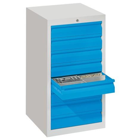 Lekka szafa z szufladami PAVOY, prowadnice rolkowe, szuflady 8 x 100 mm, szerokość 500 mm