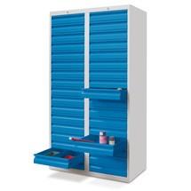 Lekka szafa z szufladami PAVOY, prowadnice ślizgowe, szuflady 30 x 100 + 2 x 200 mm, szerokość 1000 mm