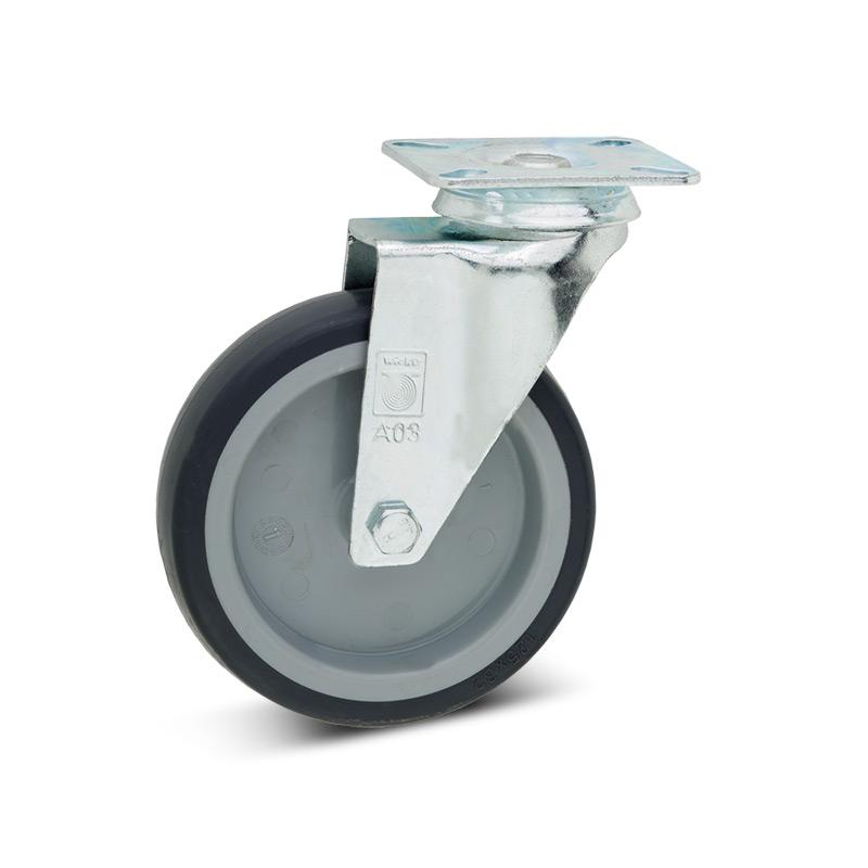 Lenkrad Apparate-Rolle aus Polypropylen, spurlos. Tragkraft 75 - 100 kg