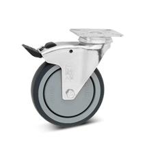Lenkrad Apparate-Rolle, Feststeller, Polypropylen, spurlos. Tragkraft 75-100kg