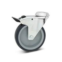 Lenkrad Apparate-Rolle, Feststeller, Rückenloch, PP, spurlos, Tragkraft 75-100kg