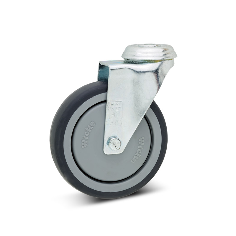 Lenkrad Apparate-Rolle, Rückenloch, Polypropylen, spurlos. Tragkraft 75 - 100 kg