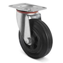 Lenkrad Basic aus Vollgummi auf PP-Felgen. Tragkraft 70 - 205 kg