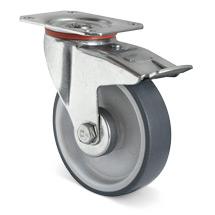 Lenkrad Basic Thermoplast, spurlos mit Feststeller. Tragkraft 90 - 235 kg