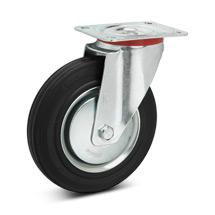 Lenkrad Premium aus Vollgummi. Stahlblechfelge. Tragkraft 50 - 205 kg