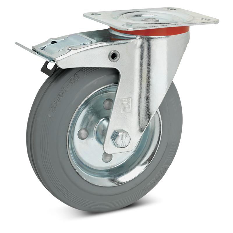 Lenkrad Premium ausVollgummi, spurlos m. Doppelstop. Stahlblechfelge. 50 - 205kg