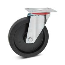 Lenkrad Wicke aus Elastik-Vollgummi. Tragkraft 180 - 350 kg